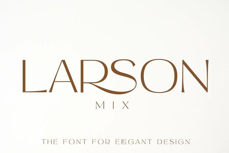 Larson Mix Advertisement Font example image 1