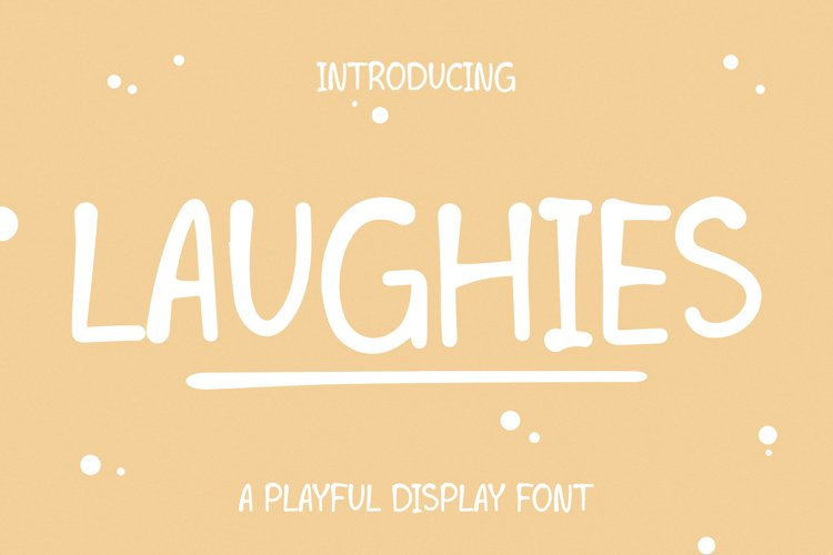 LAUGHIES - Playful Handwritten Font example image 1