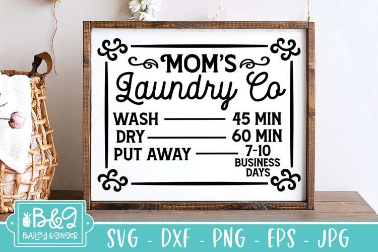 Laundry SVG | Laundry Co Schedule | Funny Farmhouse SVG example image 1