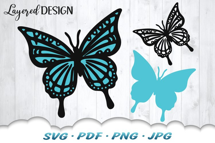 Layered Butterfly SVG Cut Files