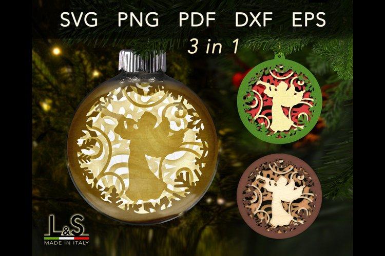 Layered Christmas ornament template bundle