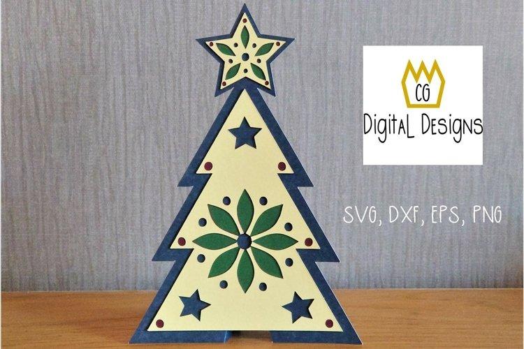 Christmas Tree Card - SVG