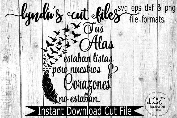 Tus Alas estaban listas//Your Wings were Ready/ Spanish//mem