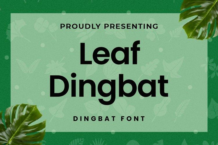 Web Font Leaf - Dingbat Font example image 1