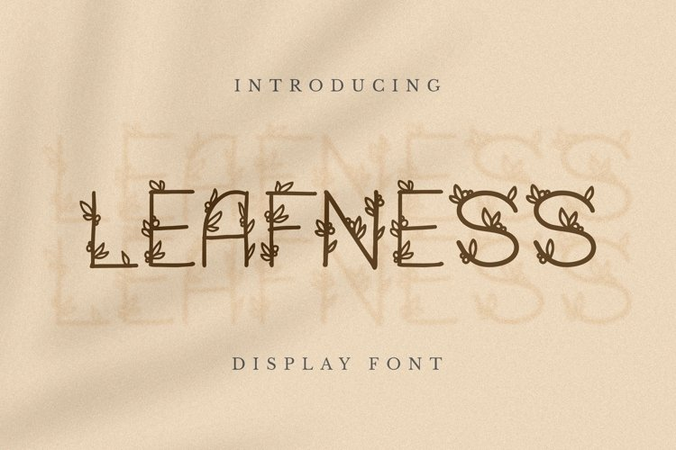 Web Font Leafness Font example image 1