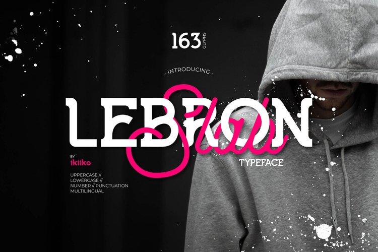 LEBRON Slab Typeface example image 1