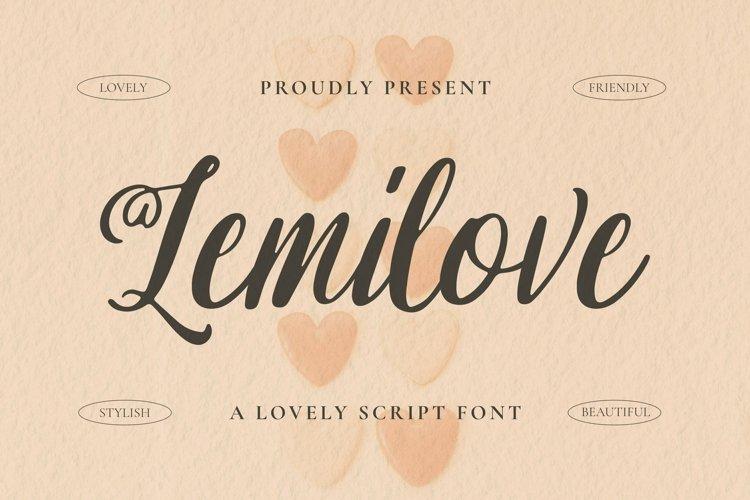 Web Font Lemilove Font example image 1