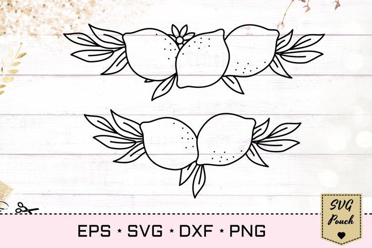 Lemon border SVG example image 1