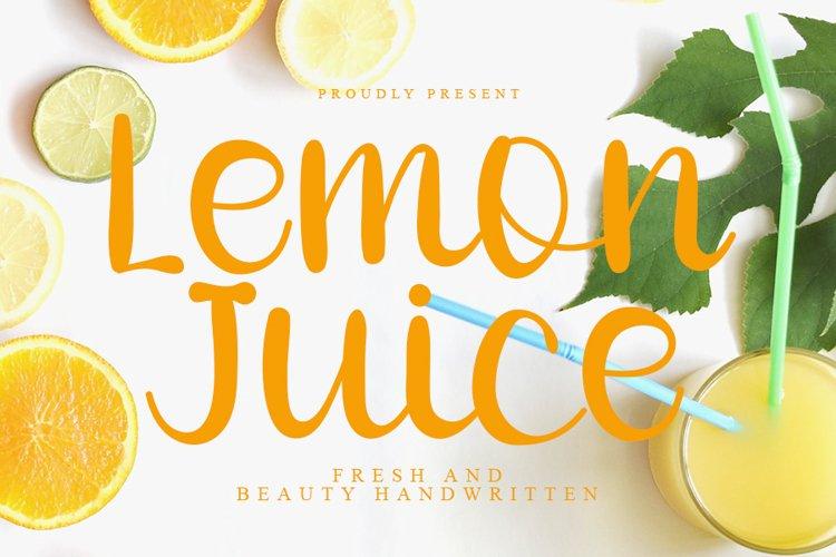 Lemon Juice - Fresh Handwritten Font example image 1