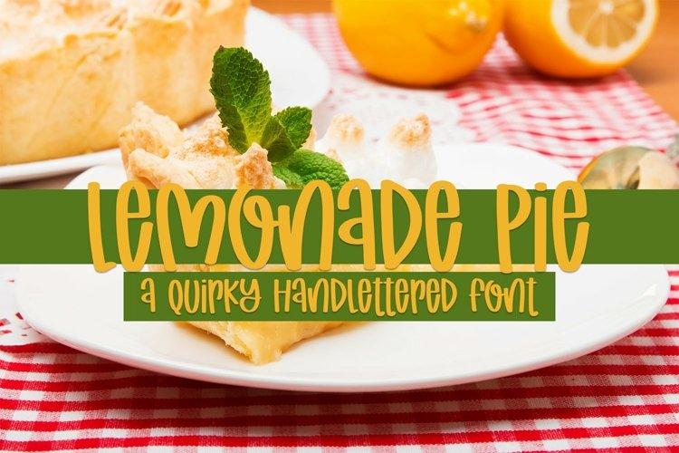 Web Font Lemonade Pie - A Quirky Handlettered Font