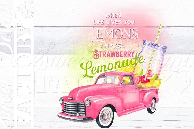 Strawberry Lemonade png, pink lemonade PNG