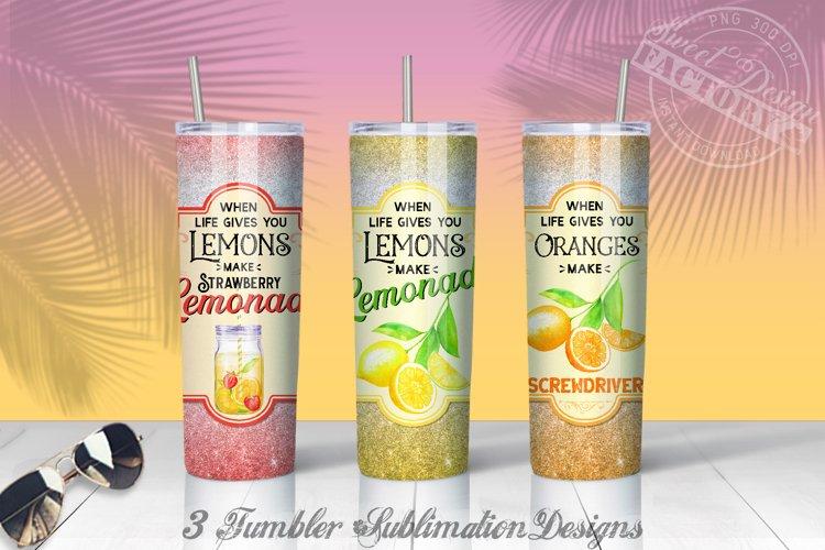 20 oz lemonade tumbler Sublimation designs