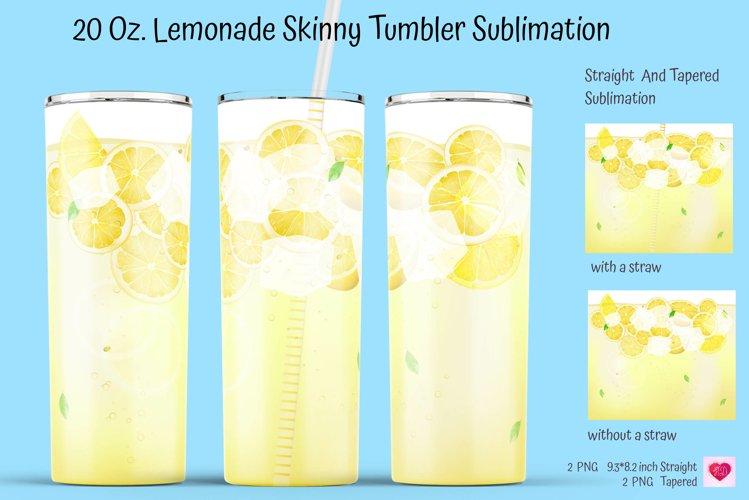 Lemonade Tumbler Sublimation. Realistic Drinks Tumbler.