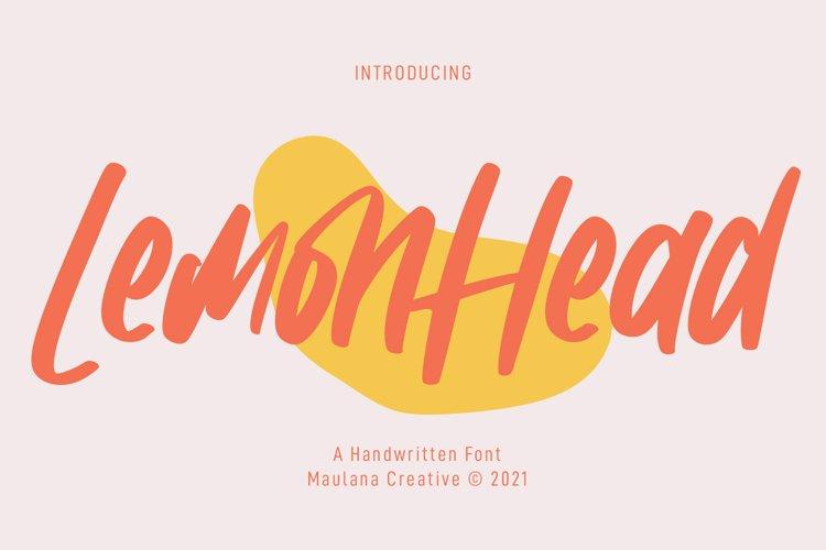 Lemonhead Handwritten Font example image 1