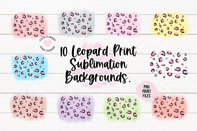 10 Colorful Leopard Print Sublimation Backgrounds Bundle