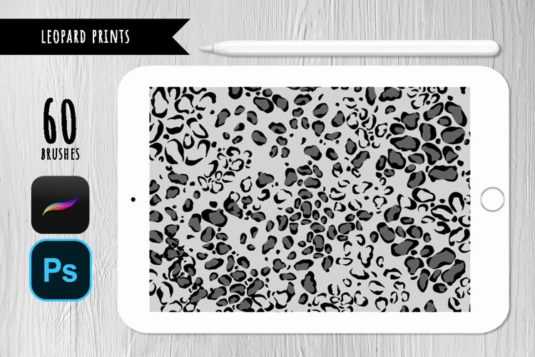 Leopard stamp brushes for Photoshop and Procreate