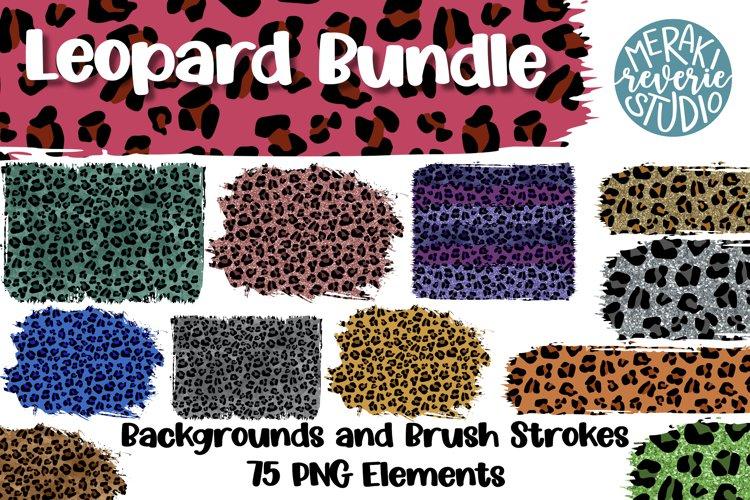 Leopard Print Sublimation Bundle with 75 Elements