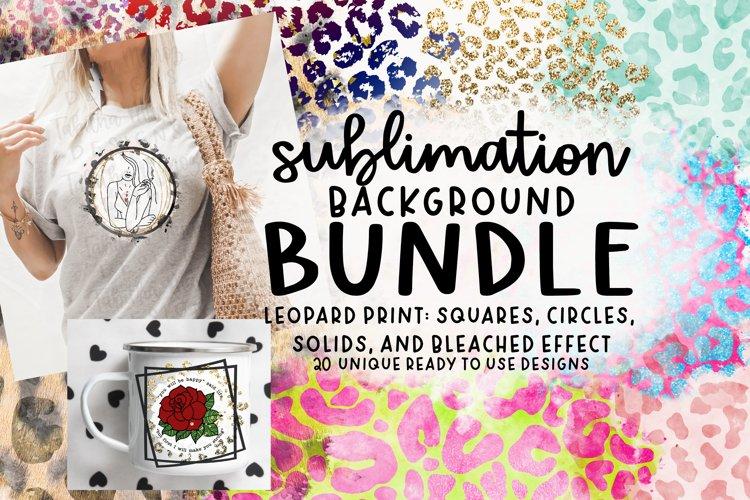 Leopard Sublimation Backgrounds Bundle