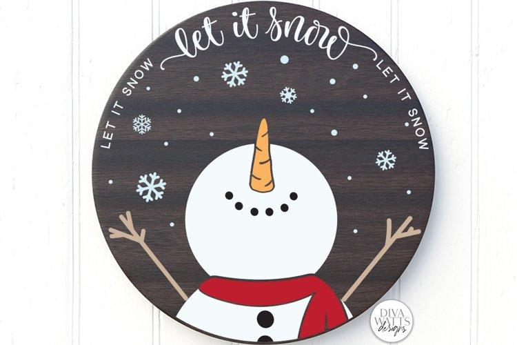 Let It Snow SVG | Christmas Snowman Design example image 1