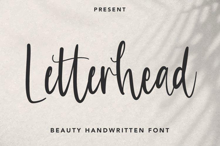 Letterhead - Handwritten Font example image 1