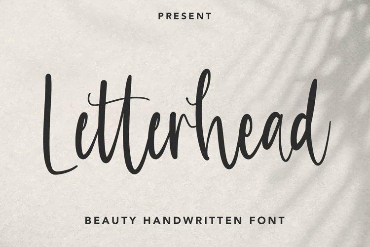 Web Font Letterhead - Handwritten Font example image 1