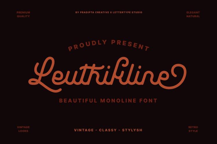 Leuthikline - Beautiful Monoline Font example image 1