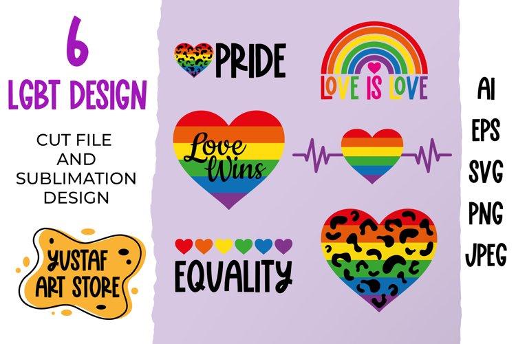 LGBT Pride bundle. SVG cut file and sublimation design
