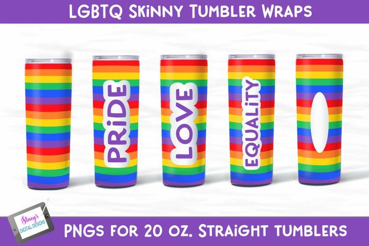 LGBTQ Pride Tumbler Wrap Bundle - 5 Skinny tumbler designs example image 1