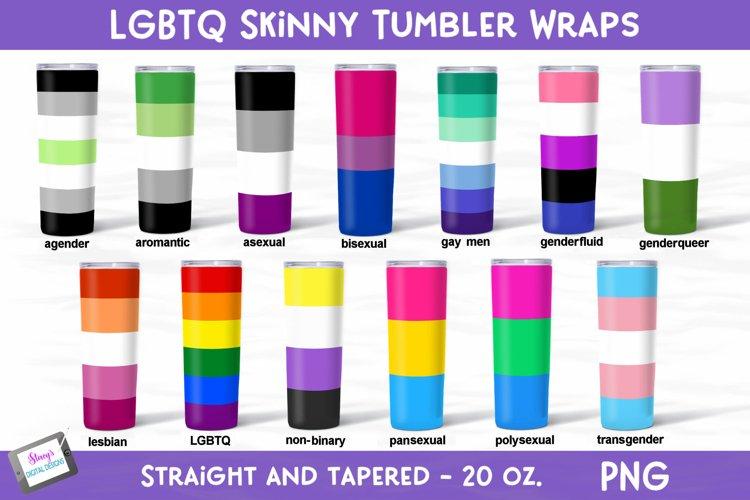 LGBTQ Pride - Skinny Tumbler Bundle - 20 oz. Tumbler Wraps