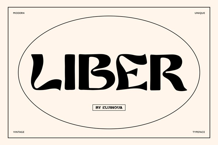 Liber retro font example image 1