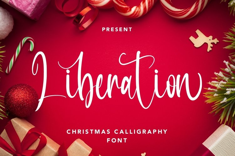 Web Font Liberation - Christmas Calligraphy Font example image 1