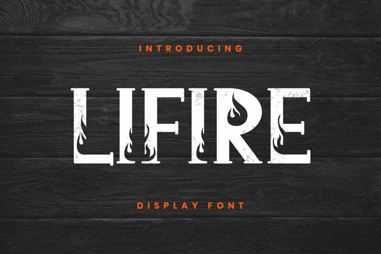 Web Font Lifire Font example image 1