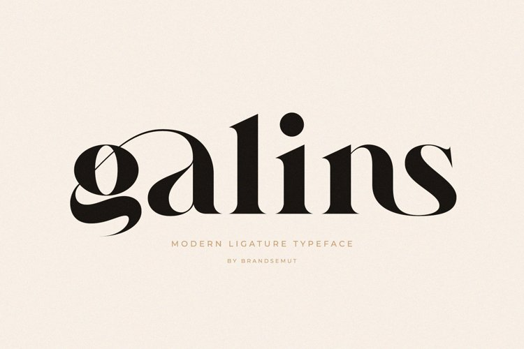 Galins Ligature Typeface example image 1