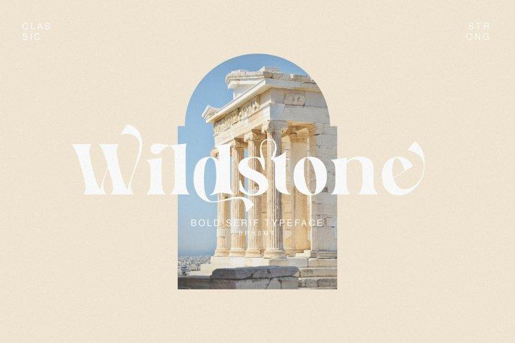 Wildstone - Ligature Serif Typeface example image 1