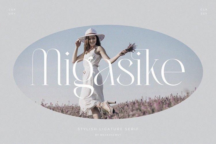 Migasike // Stylish Ligature Serif example image 1