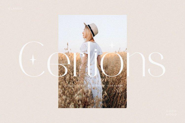 Cerlions - Classic Elegant Display Typeface example image 1
