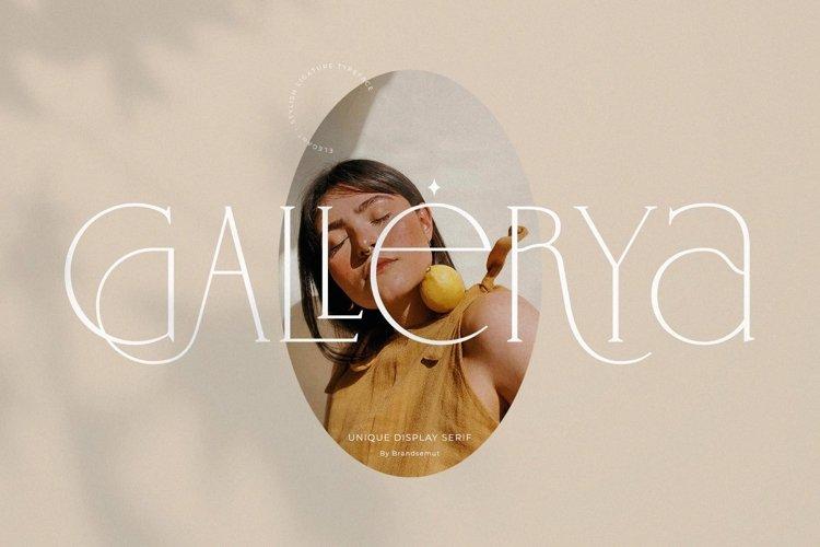 Gallerya - Unique Ligature Typeface example image 1