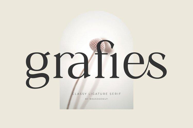 Grafies | Classy Ligature Serif example image 1