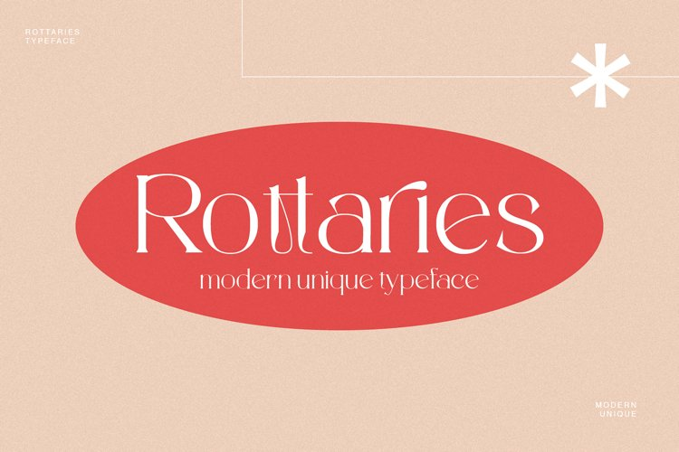 Rottaries - Modern Unique Typeface example image 1