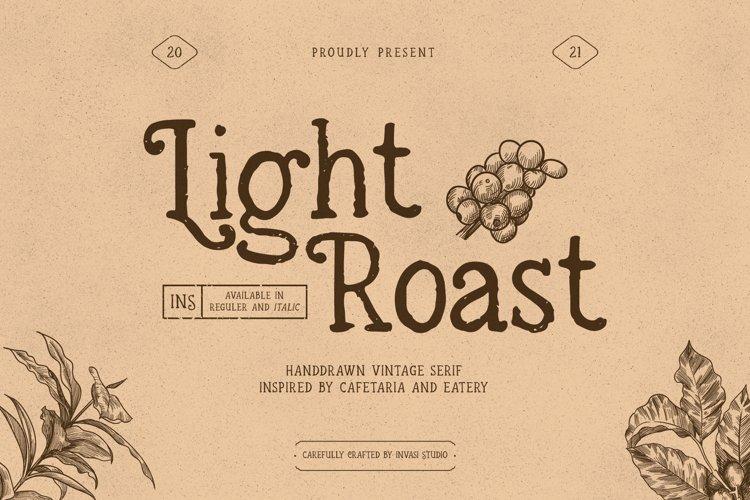 Light Roast - Handdrawn Serif example image 1