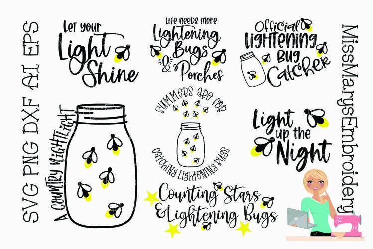 Lightening Bug Bundle SVG   Summer SVG   Fireflies SVG  