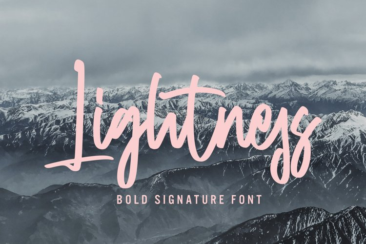 Lightness - Bold Signature Font example image 1