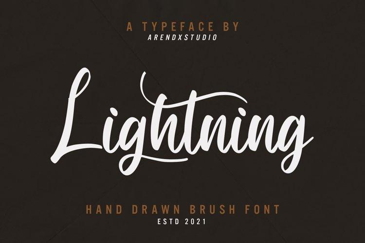 Lightning - Hand Draw Brush Font example image 1
