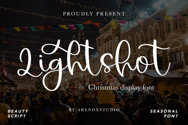 Lightshot - Christmas Display Font example image 1
