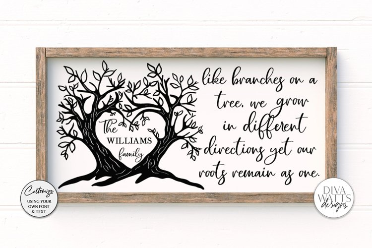 Like Branches on a Tree Family - Customizable SVG example image 1