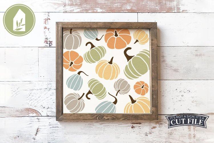 Pumpkin Pattern, Fall Pumpkin Sign example image 1