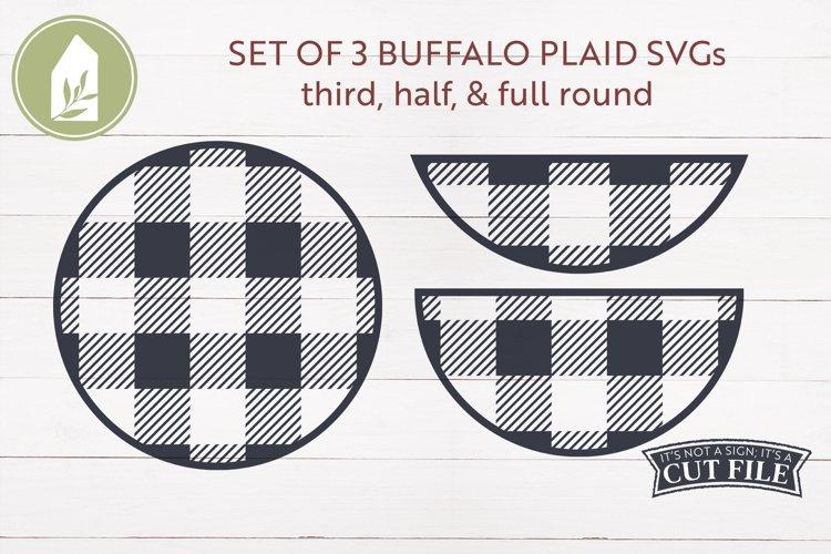 Buffalo Plaid SVG, Round Sign SVG, Winter, Christmas SVG example image 1