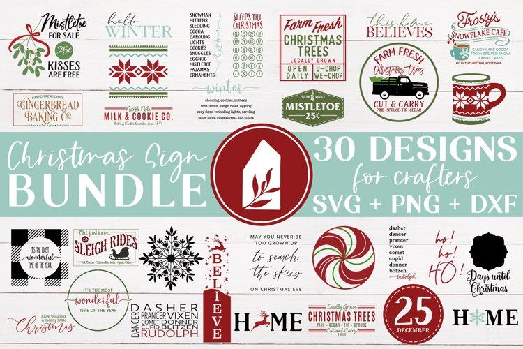 Christmas Sign Bundle, Christmas SVG Bundle, Christmas SVG example image 1