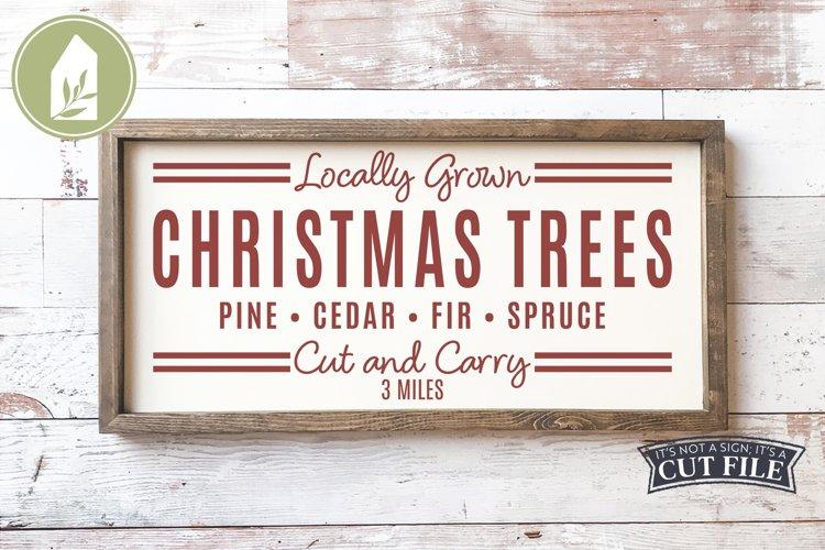 Christmas Trees, Christmas SVG, Grain Sack, Cut and Carry example image 1