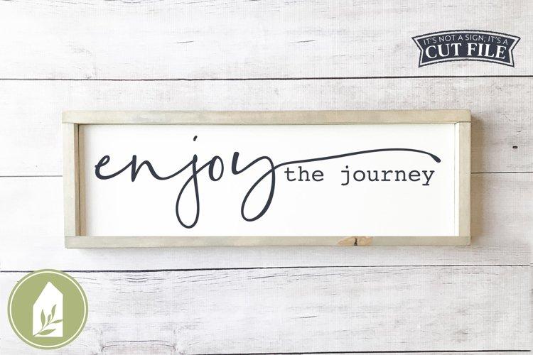 Enjoy the Journey SVG, Boho SVG, Motivational Wood Sign SVG example image 1